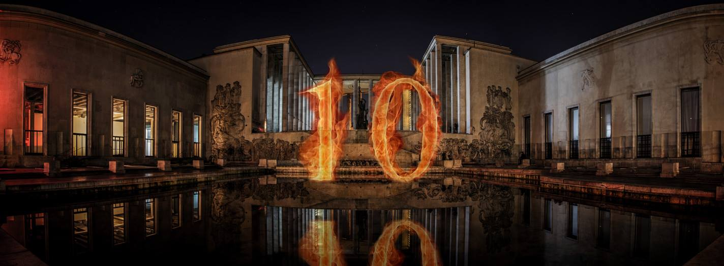 10 years of fire party at the Palais de Tokyo